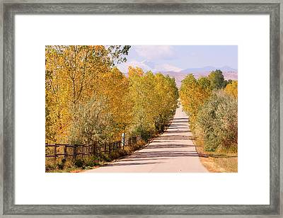 Country Road Autumn Fall Foliage View Of The Twin Peaks Framed Print by James BO  Insogna