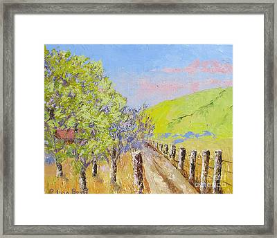 Country Road Pallet Knife Framed Print by Lisa Boyd