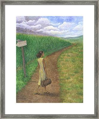 Country Road Framed Print by Robert Casilla