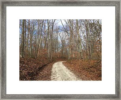 Country Road Framed Print by Russell Keating