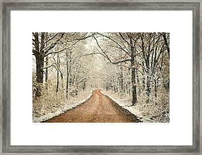 Country Roadq Framed Print by Marty Koch