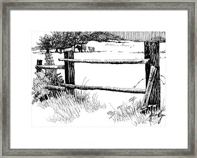 Country Scene Framed Print by Jilian Ryan