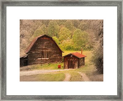 Country Shack Framed Print by Itai Minovitz