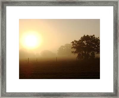 Country Sunrise Framed Print by Kimberly Camacho
