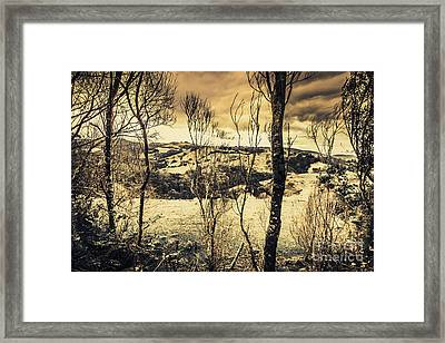 Country Victoria Winter Scene Framed Print by Jorgo Photography - Wall Art Gallery