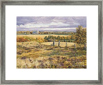 County In Autumn Framed Print by Roger Witmer