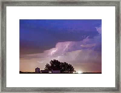 County Line Northern Colorado Lightning Storm Framed Print by James BO  Insogna