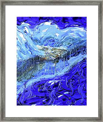 Coupe Du Monde Val D'isere II Framed Print by Pete Caswell