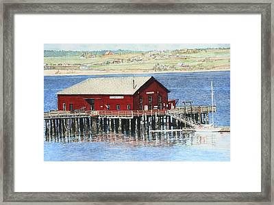 Coupeville Wharf Framed Print by Perry Woodfin