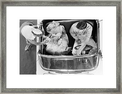 Couple At A Drive-in, C.1950-60s Framed Print by H. Armstrong Roberts/ClassicStock