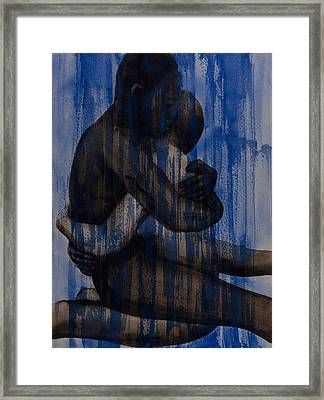 Couple   Blue Framed Print by Graham Dean