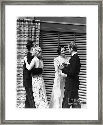 Couples Out Dancing, C.1930s Framed Print by H. Armstrong Roberts/ClassicStock
