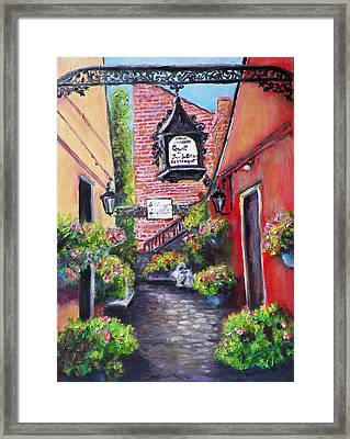 Court Of The Two Sisters Framed Print by Michael McGrath