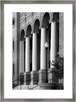 Courthouse Columns Framed Print by Richard Rizzo