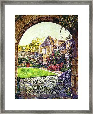Courtyard Impressions Provence Framed Print by David Lloyd Glover
