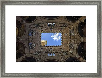 Courtyard Of The Podesta Framed Print by Michele Chiroli
