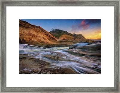 Cove At Cape Kiwanda, Oregon Framed Print by Rick Berk