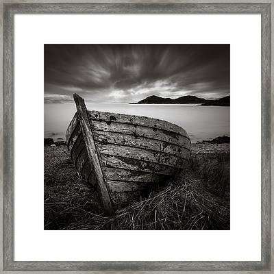 Cove Boat Framed Print by Dave Bowman
