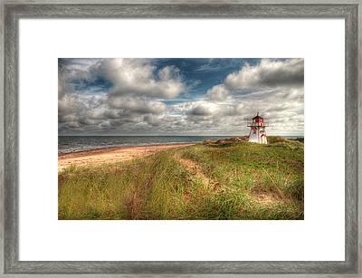 Covehead Lighthouse Framed Print by Elisabeth Van Eyken