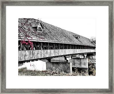Covered Bridge 2 Framed Print by Scott Hovind