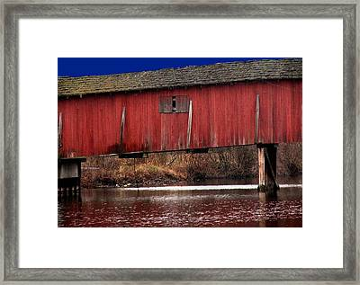 Covered Bridge Framed Print by Michael L Kimble