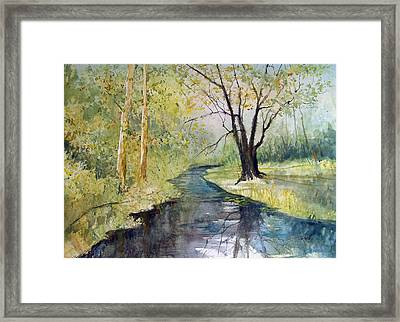 Covered Bridge Park Framed Print by Ryan Radke