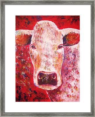 Cow Framed Print by Anastasis  Anastasi