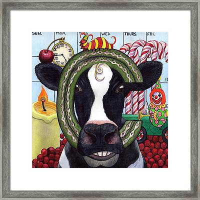 Cow Framed Print by Catherine G McElroy