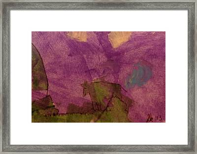 Cow On The Edge Framed Print by Lori Kingston