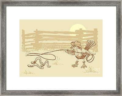 Cowbird Framed Print by Laura Brightwood