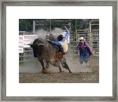 Cowboy Art 1 Framed Print by Bob Christopher