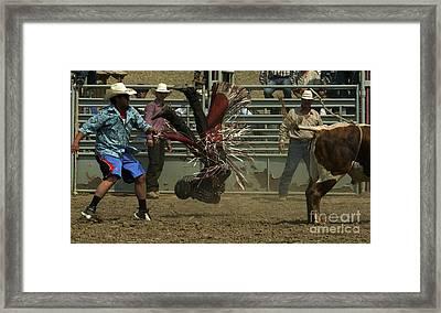 Cowboy Art 6 Framed Print by Bob Christopher