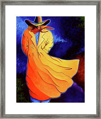 Cowboy Blue Framed Print by Lance Headlee