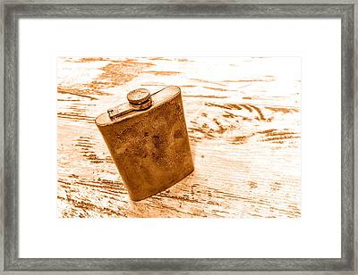 Cowboy Energy Drink - Sepia Framed Print by Olivier Le Queinec