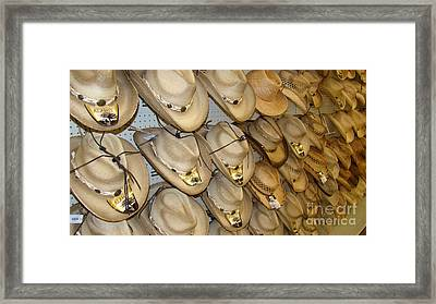 Cowboy Hats For You Framed Print by Beverly Guilliams