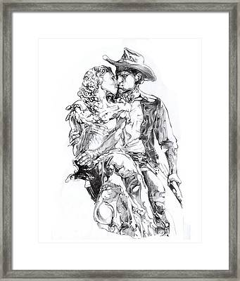 Cowboy Framed Print by Mike Massengale