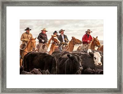 Cowboy Posse Framed Print by Todd Klassy