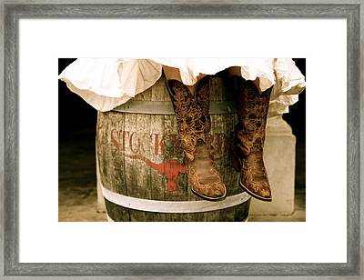 Cowgirl Boots Framed Print by Snow White