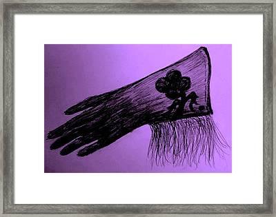 Cowgirl Glove Plum Classy Framed Print by Susan Gahr
