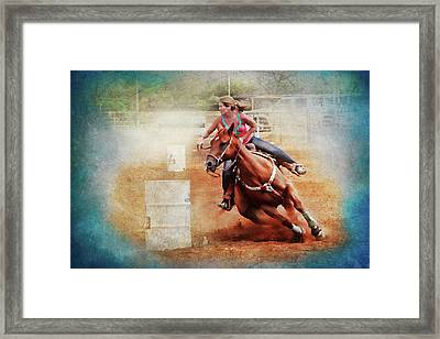Cowgirl Trust Framed Print by Toni Hopper