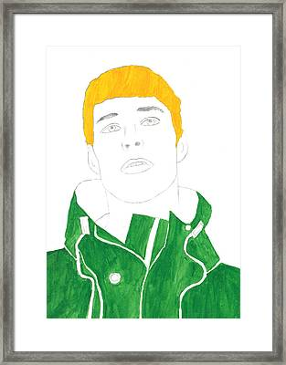 Cp Green Hoodie Framed Print by Thomas Paul