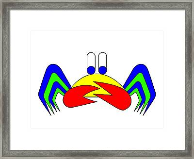Crab-mac-claw The Crab Framed Print by Asbjorn Lonvig