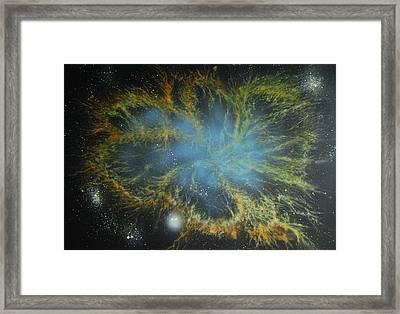 Crab Nebula Framed Print by DC Decker