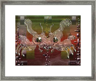 Crabba Framed Print by Marko Mitic