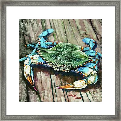 Crabby Blue Framed Print by Dianne Parks