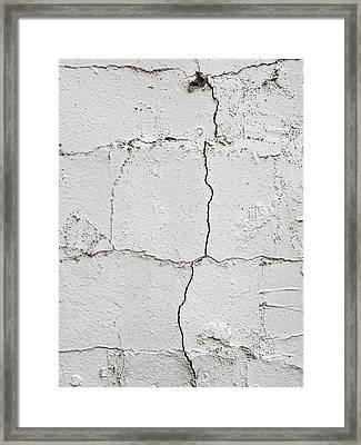 Cracked Wall Framed Print by Tom Gowanlock