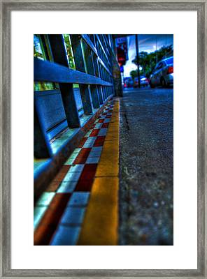 Cracks In The Pavement Framed Print by Sarita Rampersad