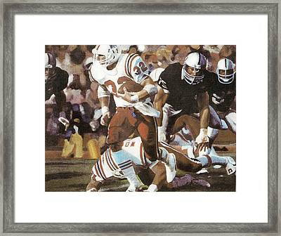 Craig James Breaking Loose Framed Print by Perrys Fine Art