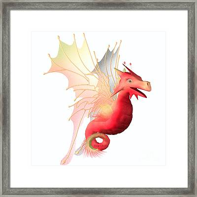 Cranberry Faerie Dragon Framed Print by Corey Ford