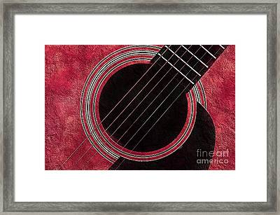 Cranberry Guitar Framed Print by Andee Design